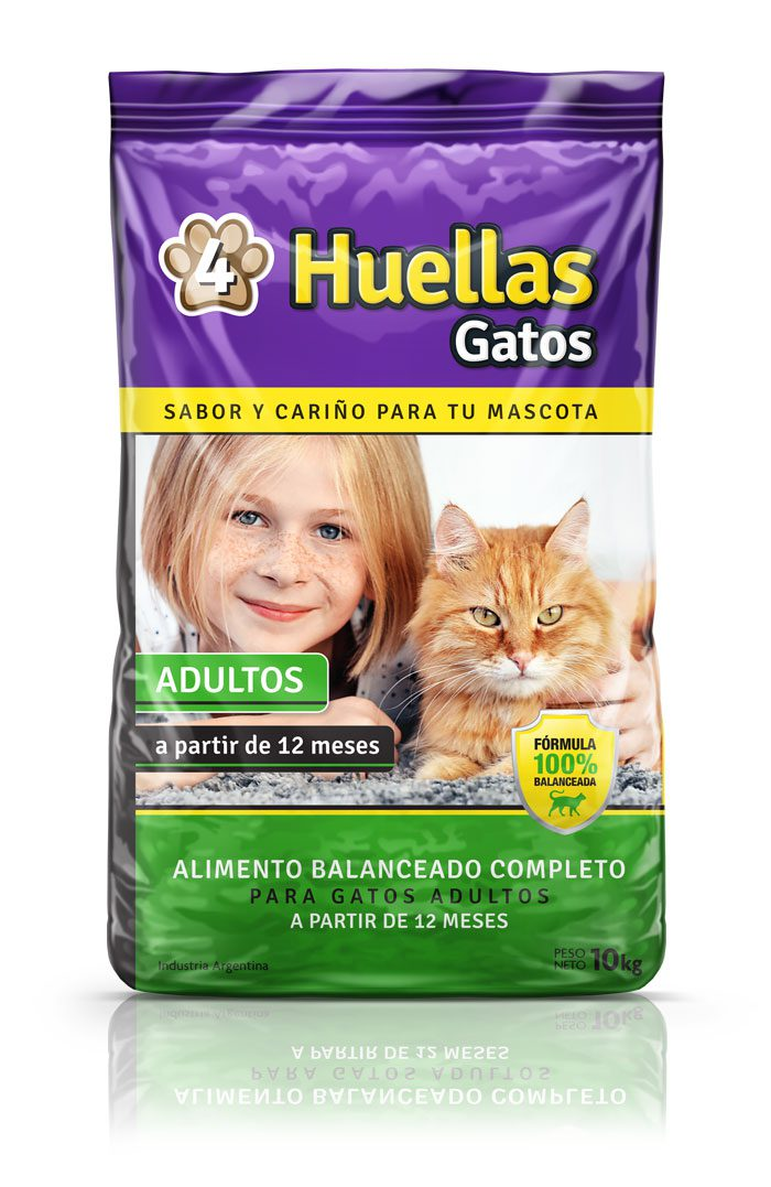 4 huellas gatos